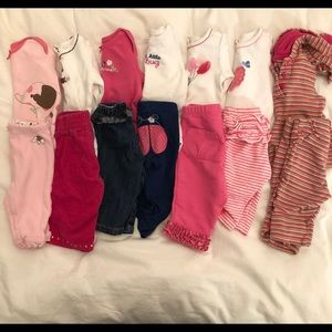 7 outfit Gymboree baby girl bundle